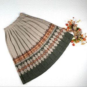 Vintage Accordion Pleat Wool Pleated Skirt SZ 5